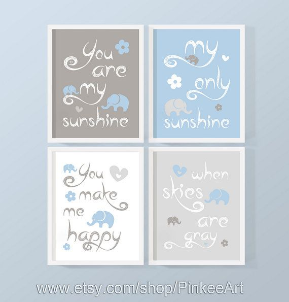 My Sunshine Baby Wall Art you are my sunshine kids wall