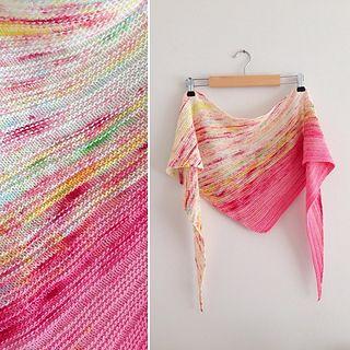 Arlequin shawl - Tuto gratuit en français et en anglais
