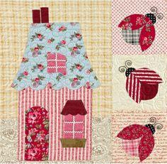 Sweetheart Houses Quilt - Block 8