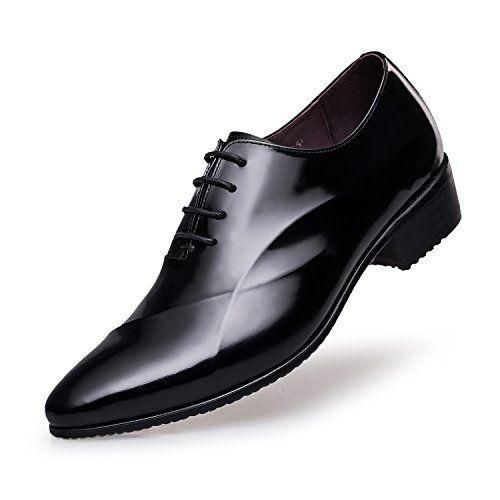 ZRO Men's Lace Up Formal Modern Oxford Dress Shoes BLACK US 10