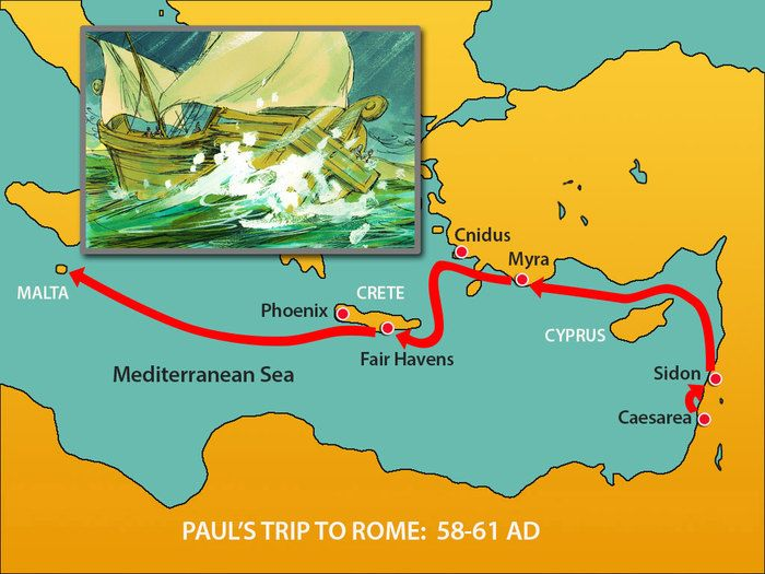 20. Paul's TRIP TO ROME. (Acts 28:1-31): Slide 1 SLIDE SHOW @ http://www.freebibleimages.org/illustrations/paul-rome/