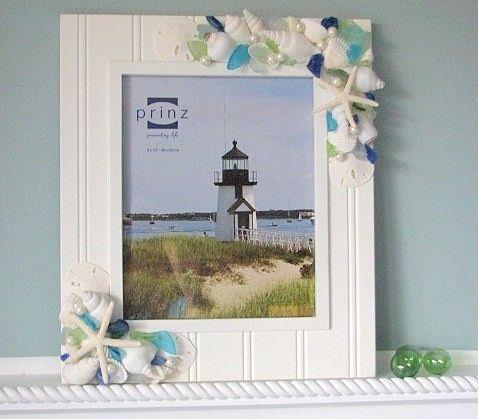 Sea Glass and shell frame....for Sanibel photos!