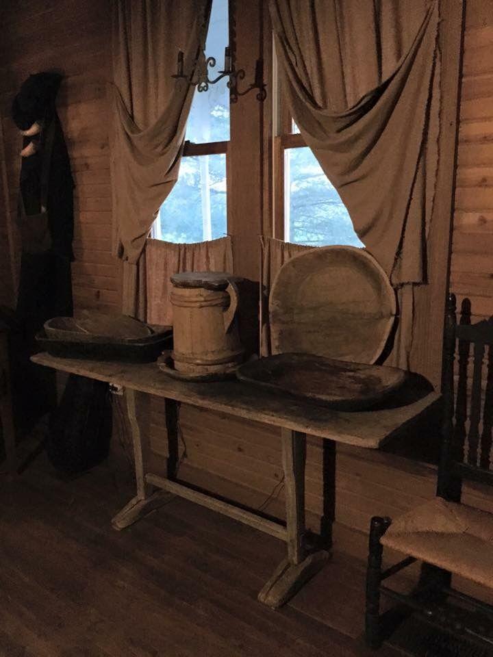 Primitive Curtains, Primitive Decor, Collection Displays, Vintage  Farmhouse, Side Tables, Mudroom, Window Treatments, Attic, Colonial