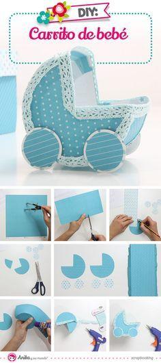 Como hacer un carrito de bebé de papel #manualidades #manualidadesparaniños…