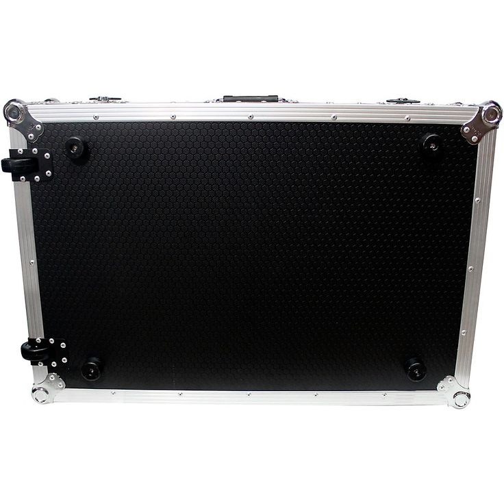 ProX XS-MCX8000WLT ATA Style Flight Road Case with Sliding Laptop Shelf and Wheels for Denon MCX8000 Black/Chrome