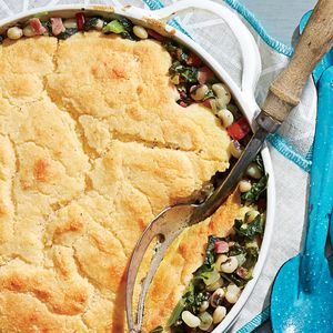 Ham-and-Greens Pot Pie with Cornbread Crust - From bacon to carnitas ...