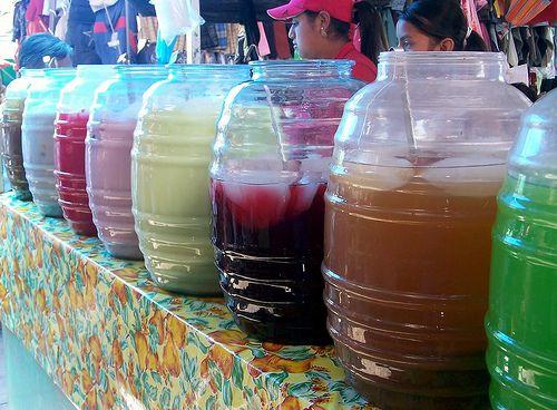 Aguas tradicionales de Mexico, Jamaica, Horchata, Cebada, Limon, Piña.
