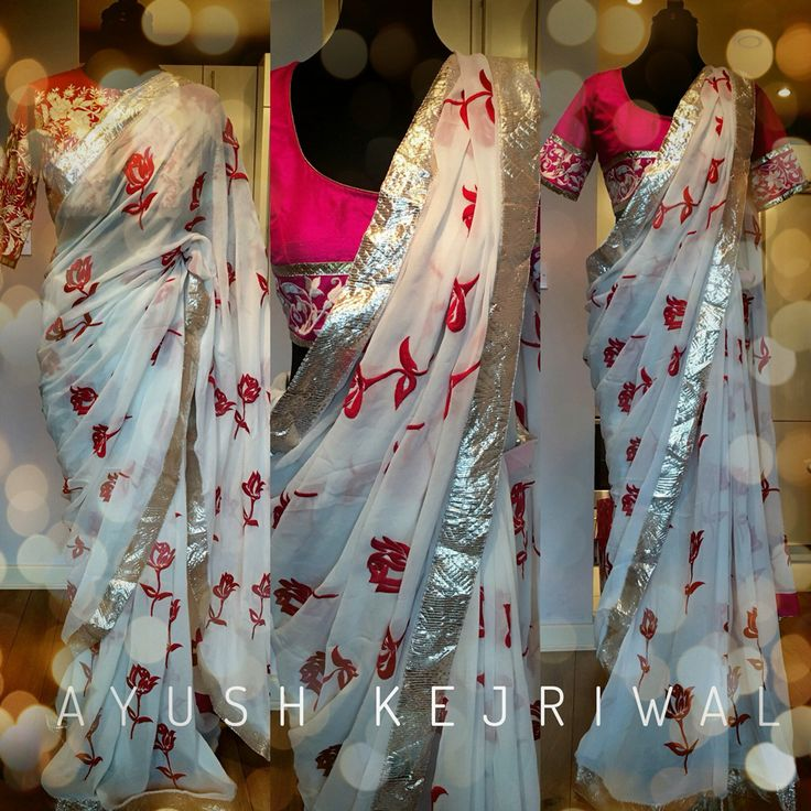 Saree by Ayush Kejriwal For purchase enquires email me at ayushk@hotmail.co.uk or whats app me on 00447840384707. We ship WORLDWIDE.