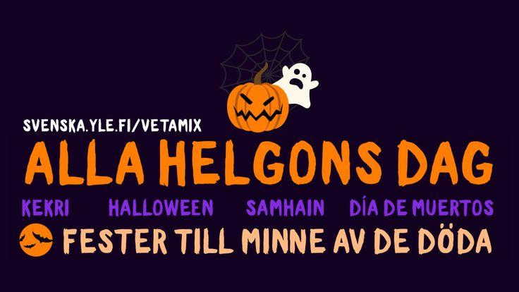 I månadsskiftet oktober-november infaller på olika håll i världen fester till minne av döda anhöriga. Några av dessa är alla helgons dag, halloween och de dödas dag.