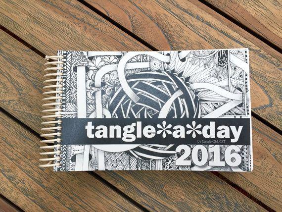 Zentangle Calendar for 2016 - Tangle a Day Practice Calendar - 2016 Calendar, Daily Planner Book, Drawing Calendar, Workbook Journal