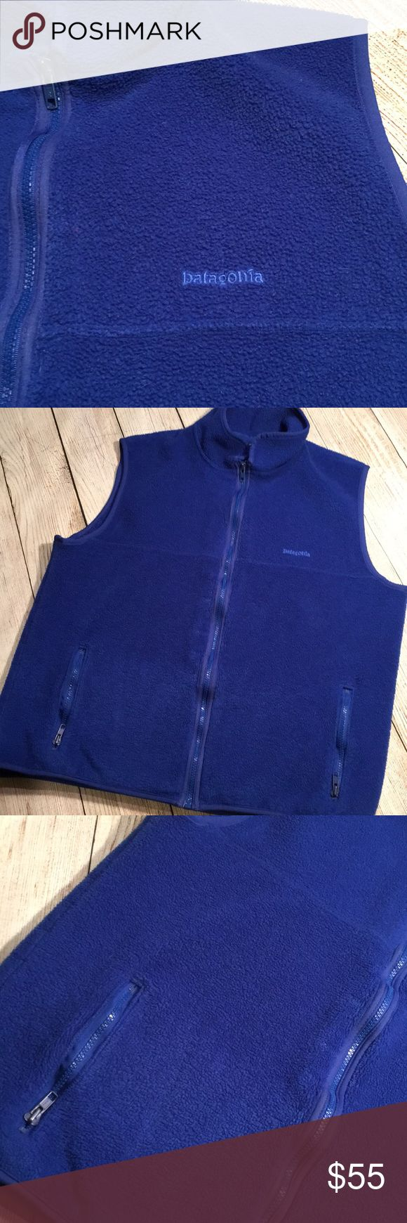 Vintage Patagonia Vest Fleece vintage (around 2000) blue Patagonia vest in great gently warn condition. No holes or stains. Men's XL.  Please no low ball offers, I work hard to find, clean, inspect, mend and post all unique products, I am working to pay off school loans and always sell my products at great prices 😊 Patagonia Jackets & Coats Vests