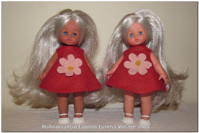 2 μικρές κούκλες Furga από την δεκαετία του 1970's 2 small dolls from Italian company Furga, from 1970's