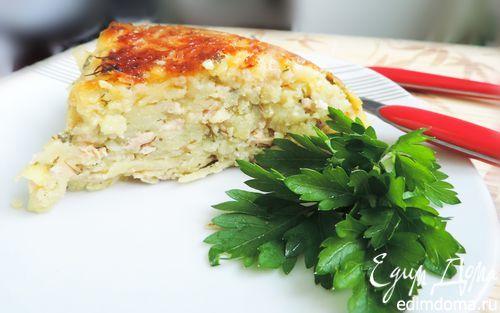 Картофельная запеканка на скорую руку в мультиварке | Кулинарные рецепты от «Едим дома!»