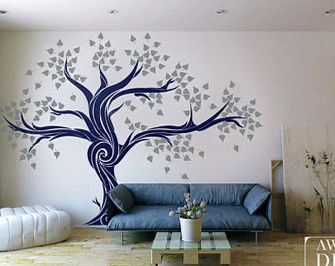 Grande stickers - Living camera Decal - Custom Stickers murali - albero murale - Vinyl Stickers murali - Awesome decalcomanie / 007