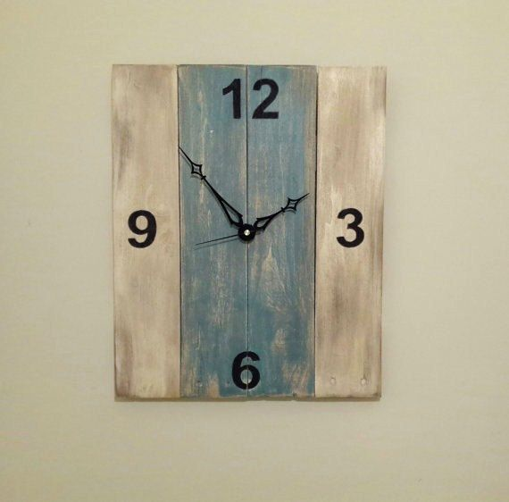 Large Rustic Wall Clock wood clock by RedBarnCollaboration on Etsy, $50.00