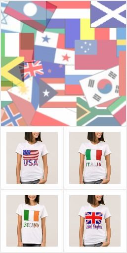 World Flag and Country Name Tees  #WorldFlagTshirts #CountryNameTees