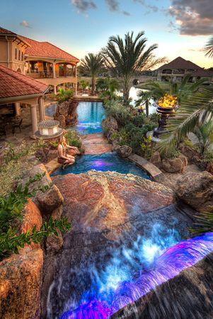 luxury lagoon pool.
