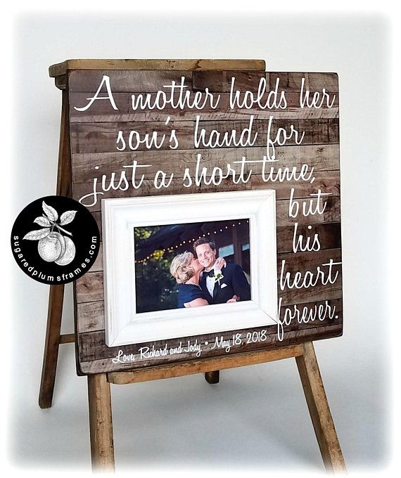 Mother Of The Groom Gift From Son Thank You Wedding Gift For Mom