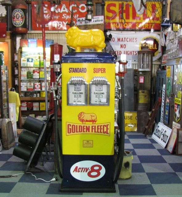 golden fleece vintage fuel /gas pump australia