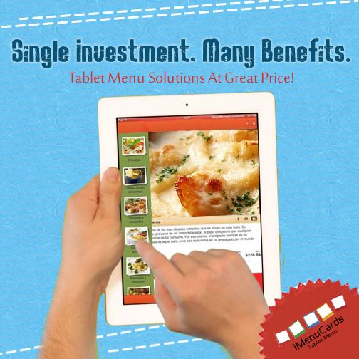 It's Time to Take the Giant Leap! Invest in Tablet Menu Solutions. You can visit us here: www.imenucards.in #DigitalMenu #iMenuCards