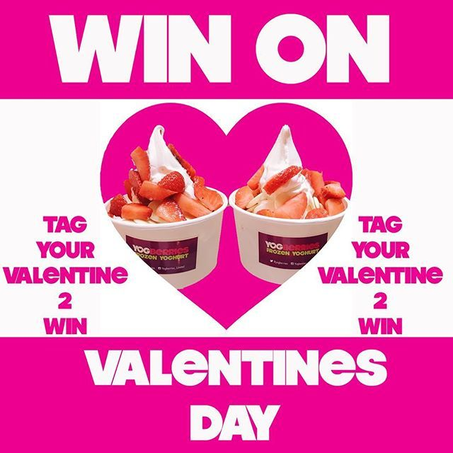 💖 WIN On Valentines Day 💖  .  🌹 Tag Your Valentine 🌹  .  💖 Win 2 Yogberrie Special 💖  .  🌹 Happy Valentines Day 🌹  .  .  .  .  .  #loveyogberries #yogberries #hale #altrincham #cheshire #fblogger #wilmslow #alderleyedge #froyo #frozenyoghurt #chocolate #twinning #tasty #love #yoghurt #manchester #fblogger #fbloggersuk #meringue #dessert #competition #valentines #valentinesday #valentinescompetion #tagsomeone