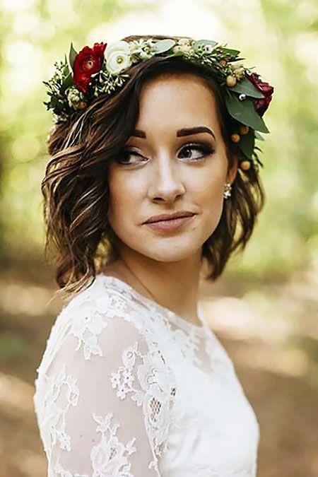 Hochzeitsfrisuren für kurzes Haar   – wedding hairstyles