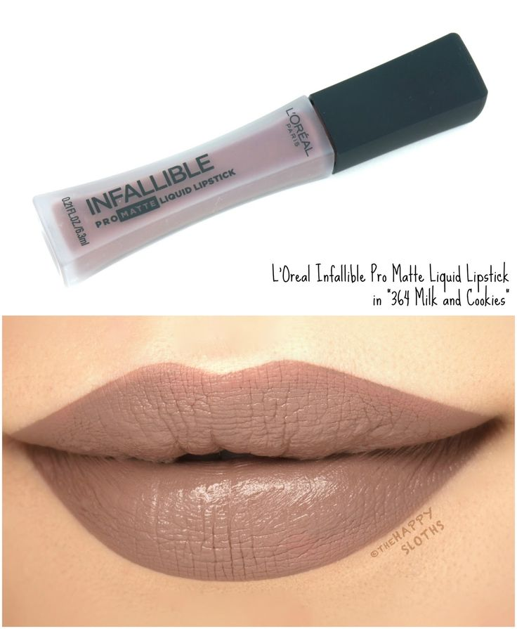 """L'Oreal Infallible Pro Matte Liquid Lipsticks in """"364 Milk and Cookies"""": Review and Swatches"""
