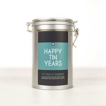 Personalised Anniversary Coffee Gift Tin