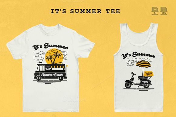 It's Summer Tee by Rooms Design Shop on Creative Market