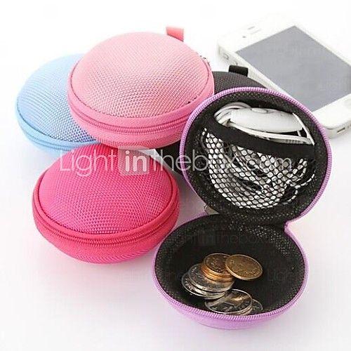 -candy gekleurde multifunctionele ronde koptelefoonopslag sieraden verandering dozen (willekeurige kleur) - USD $3.99