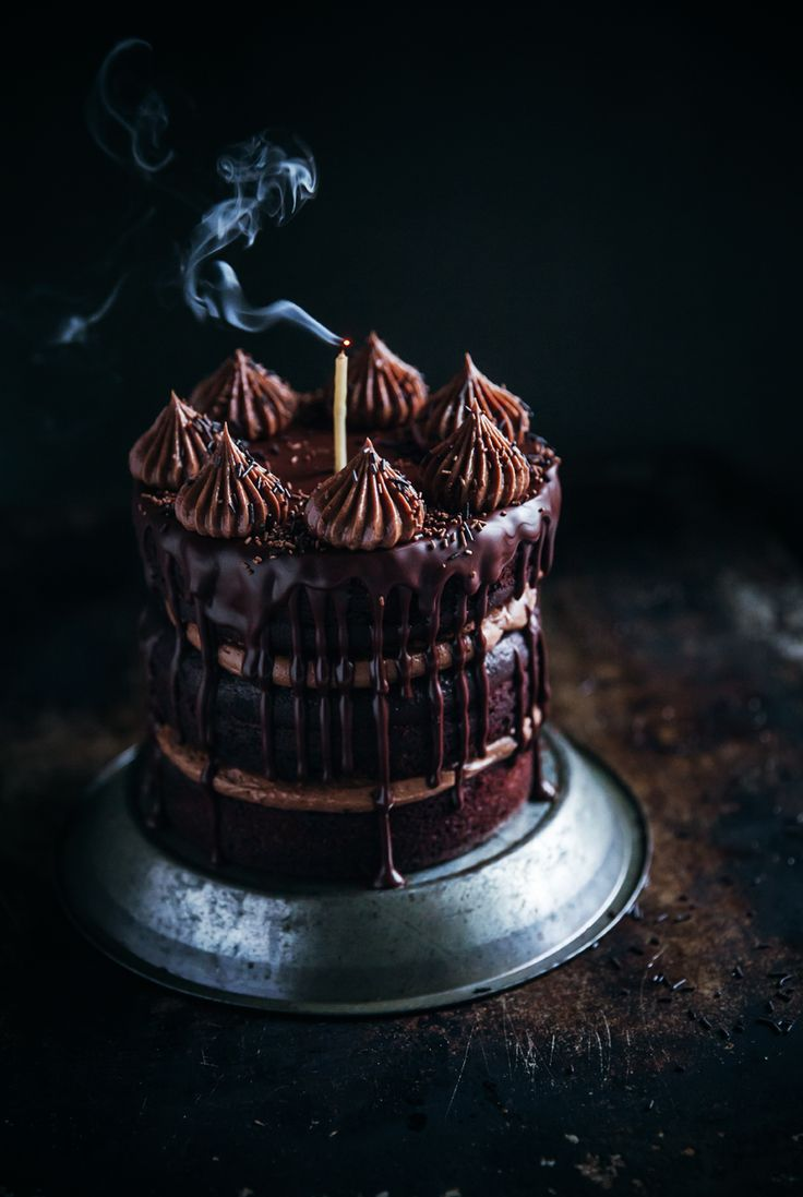 By popular demand… here it is. The chocolate cake with chocolate hazelnut frosting and dark chocolate glaze. Or to be more specific- chocolate heaven. I didn't make it for the blog and wasn't initiall