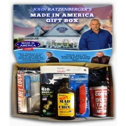 Television & movie Actor, John Ratzenberger, has teamed up with us to present the Made In America Gift Box! A box for men, women, and children, filled with 100% American made products!