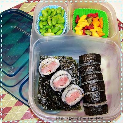 Sushi Rolls with Furikake #easylunchboxes: Bento Bloggers, Furikake Easylunchboxes, Sushi Rolls
