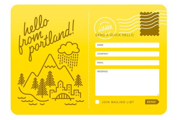 inspiring yellow contact form illustrated