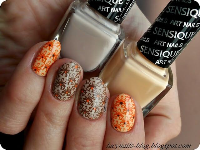 Sensique Art Nails Tamarillo nr 323 i Toffee Cream nr 322