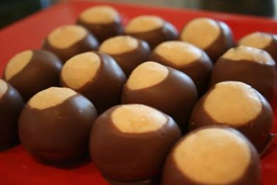 easy buckeye recipe (peanut butter balls) OMG these are SO DELICIOUS! By way of my family I nannied for in Jersey!