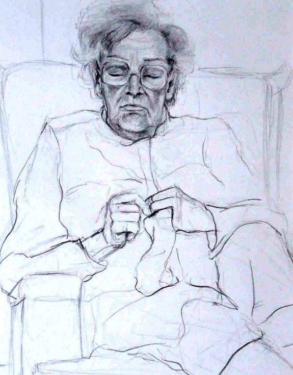 Pencil sketch of my gran.  For more information please visit - astridcastle.com