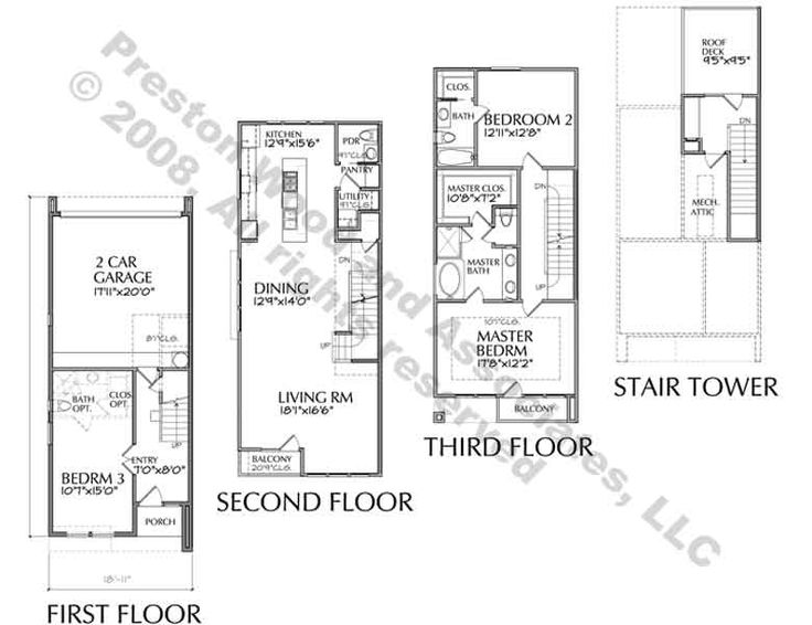 Best 25 townhouse designs ideas on pinterest duplex for Townhouse plans with double garage