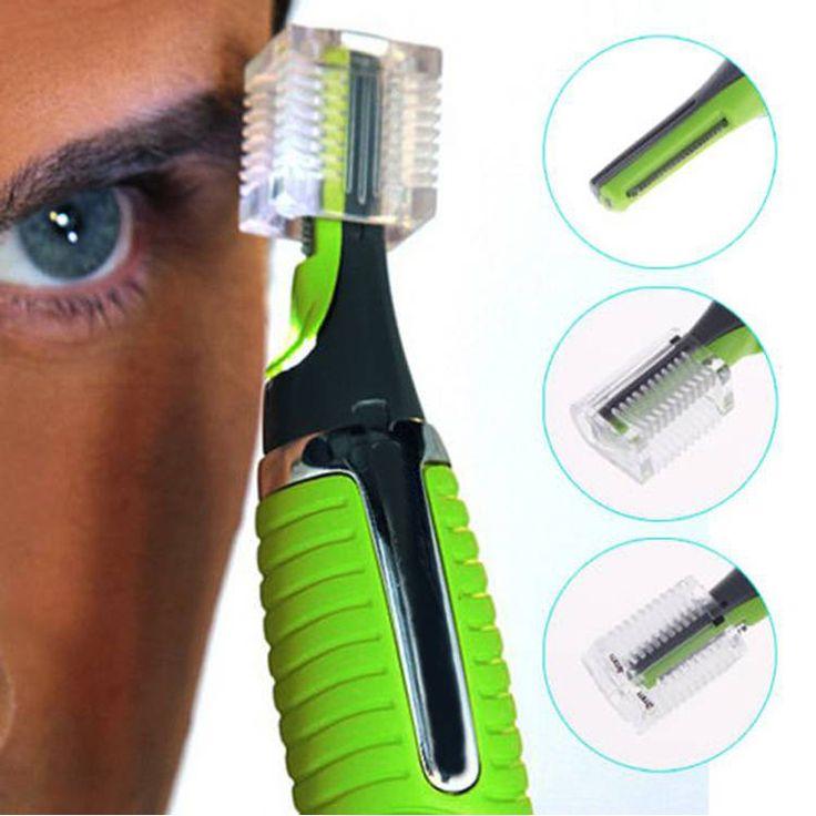 1 unids Cara Cuidado Personal Acero Inoxidable Removal Nose Hair Trimmer Clipper Afeitadora w/Luz LED para Hombres y mujeres