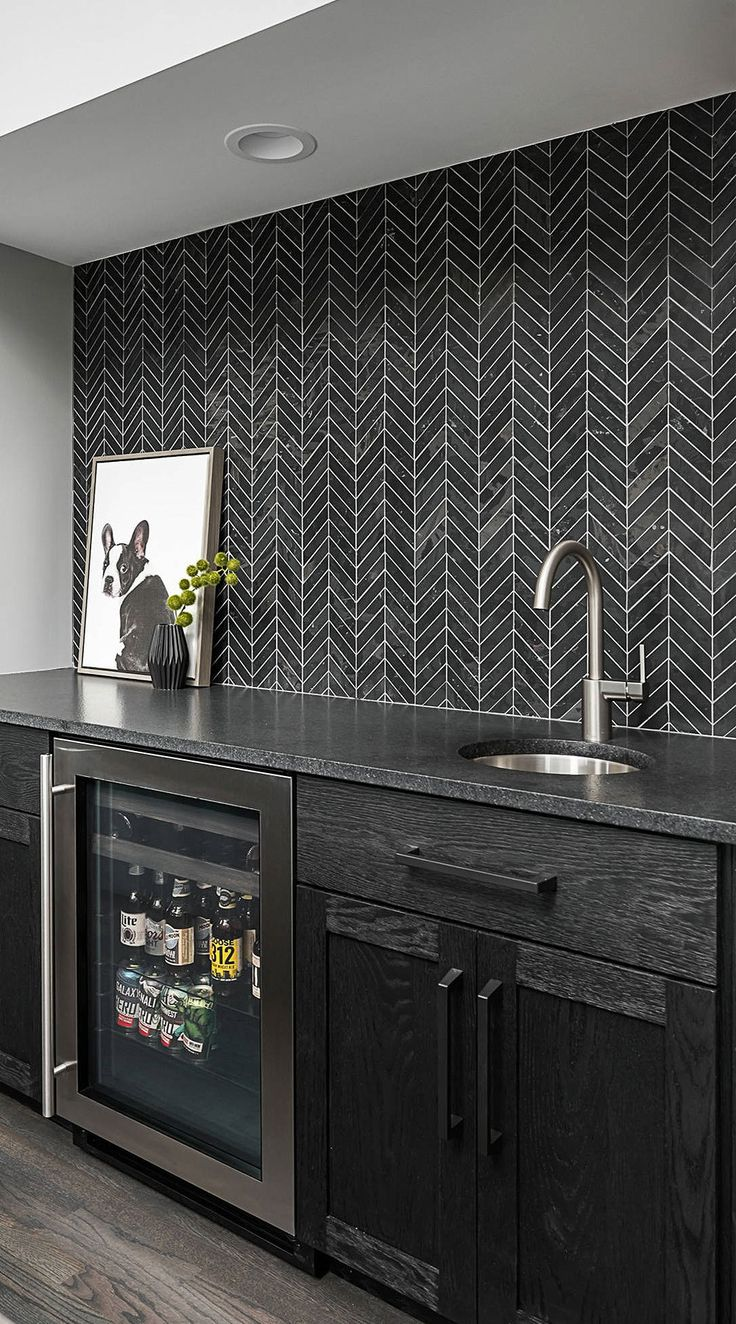 31+ Black Subway Backsplash ( Ideas ) - The Power of Black ... on Backsplash Ideas For Black Countertops  id=44452