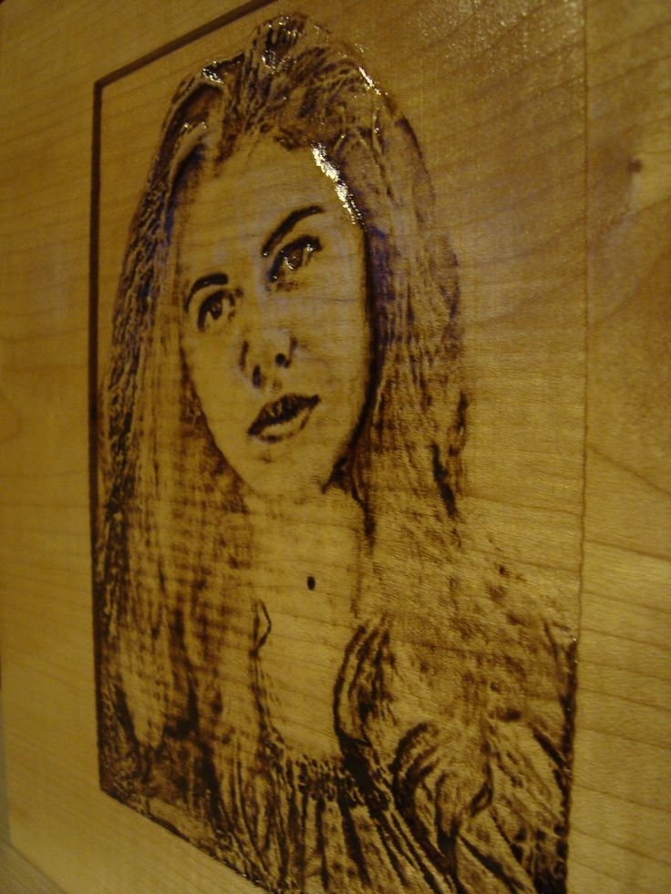 Relief wood engraved