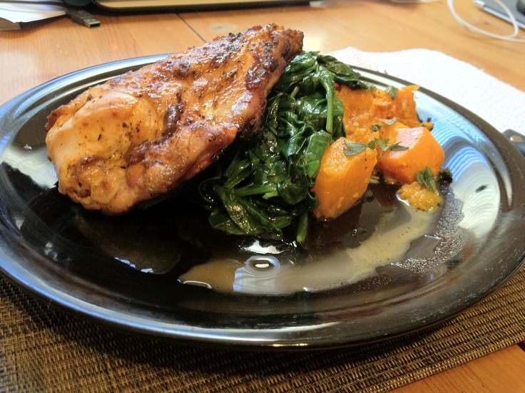 Chef Anthony Sedlak's Honey Chicken with Crushed Butternut Squash