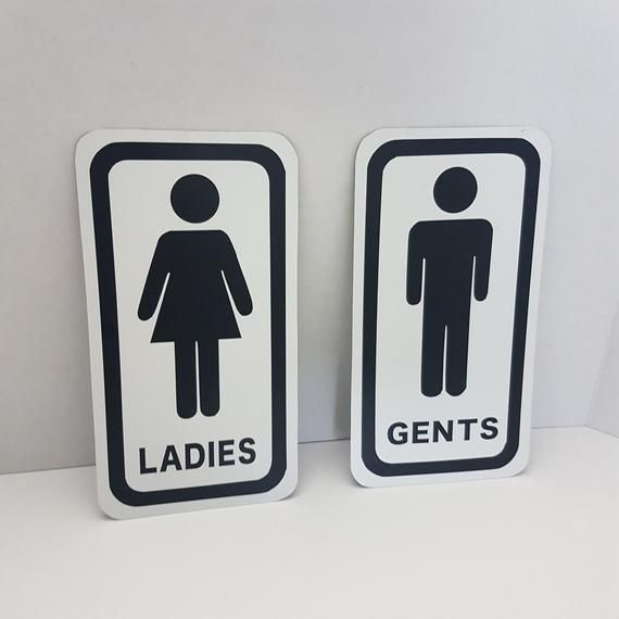 Mens And Womens Metal Bathroom Restroom Toilet Sign Etsy Mens Room Sign Crafts From Recycled Materials Toilet Sign