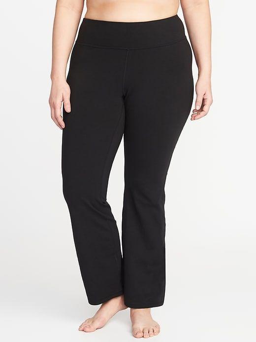 04fe9bbf60809 High-Rise Plus-Size Boot-Cut Yoga Pants | clothing | Plus size boots ...