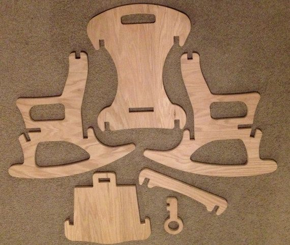 Child-Sized Puzzle Rocking Chair with Key Lock by FabLabTacoma
