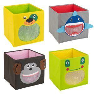 Canvas Childrens Storage Boxes
