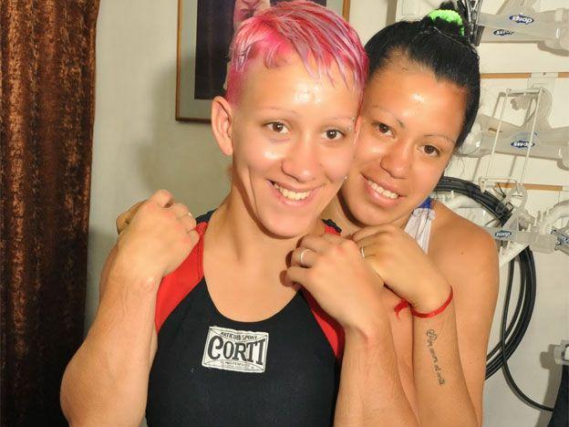 "Yohana ""Yoki"" Giminez and Ana Laura ""La Monita"" Esteche - Argentinian boxers"