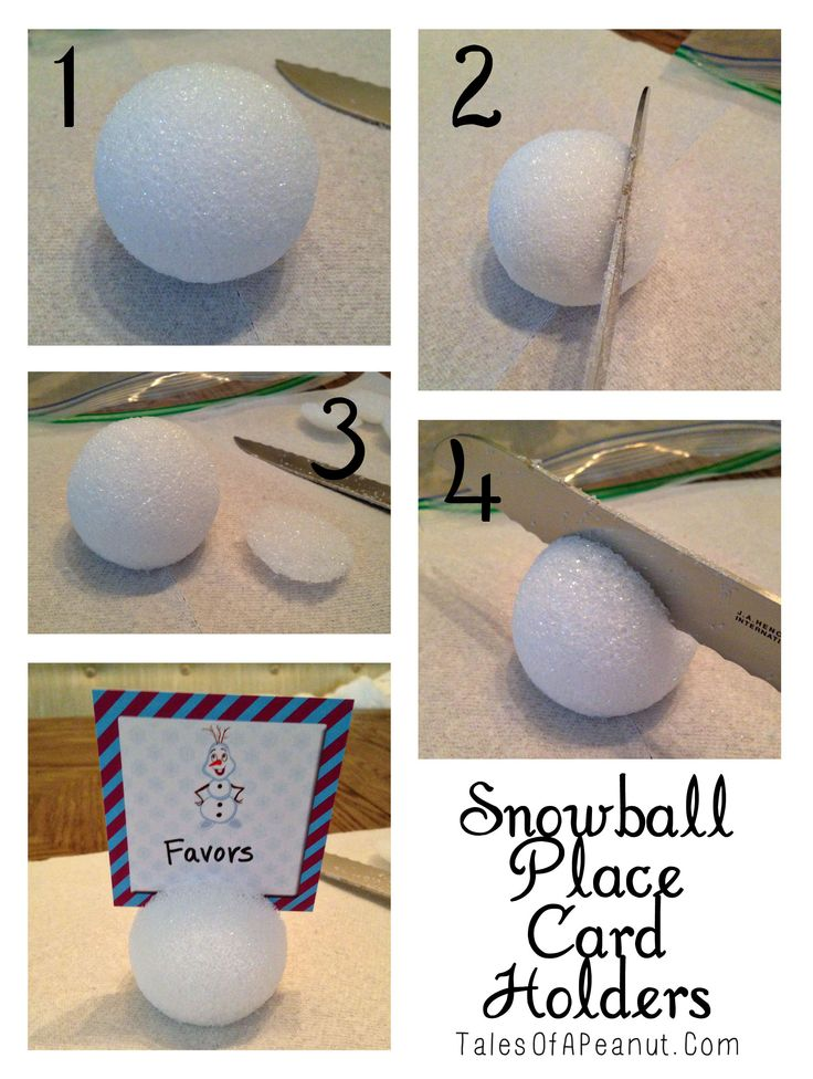 Snowball Place Card Holder