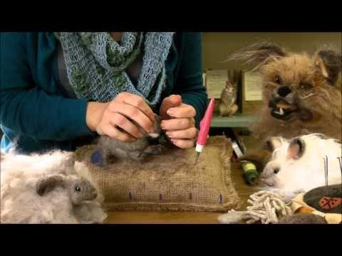 Needle Felting Instruction: Bunny Puff Episode 2, Face and Ears by Sarafina Fiber Art - YouTube
