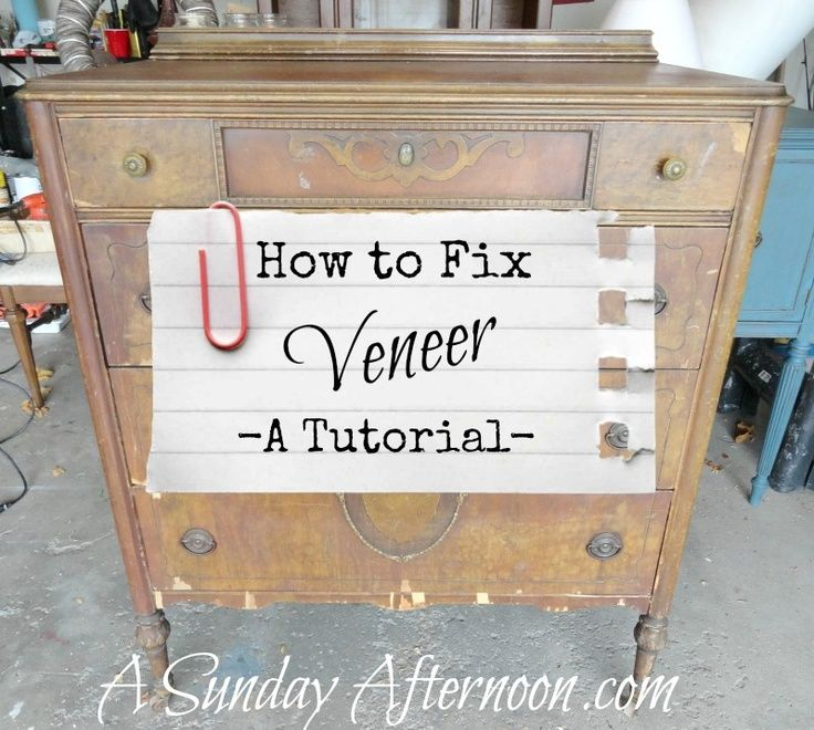 42 best repair veneer images on pinterest furniture for How to refinish a table with paint